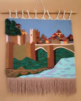 tienda tapices artesanales-tapiz puente hecho a mano-APACE Talavera