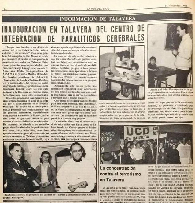 historia apace talavera asociación de ayuda a la parálisis cerebral de Talavera