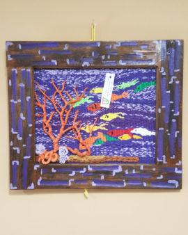 tienda tapices artesanales-tapiz peces hecho a mano-APACE Talavera