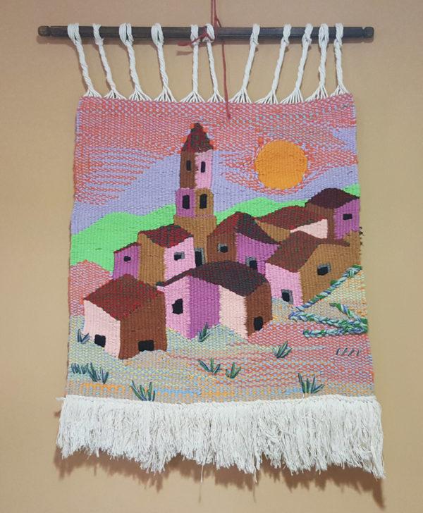 tienda tapices artesanales-tapiz pueblo hecho a mano-APACE Talavera