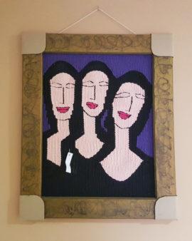 tienda tapices artesanales-tapiz mujeres hecho a mano-APACE Talavera