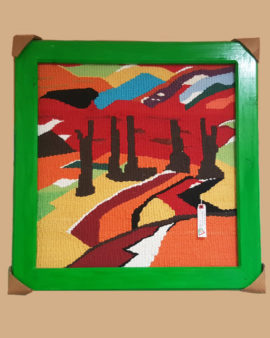 tienda tapices artesanales-tapiz paisaje hecho a mano-APACE Talavera