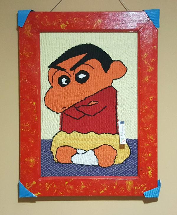 tienda tapices artesanales-tapiz shin-chan hecho a mano-APACE Talavera