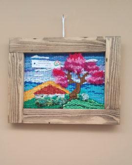 tienda tapices artesanales-tapiz árbol campo hecho a mano-APACE Talavera